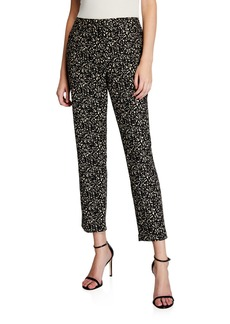 DKNY Printed Slim Ankle Stretch Pants