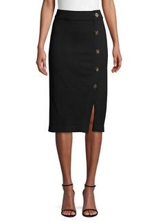 DKNY Knit Bodycon Button Skirt