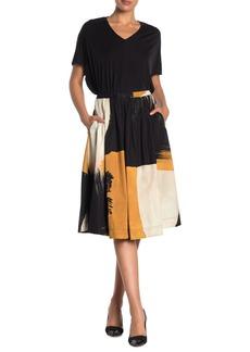 DKNY Pull-On Pleated Midi Skirt