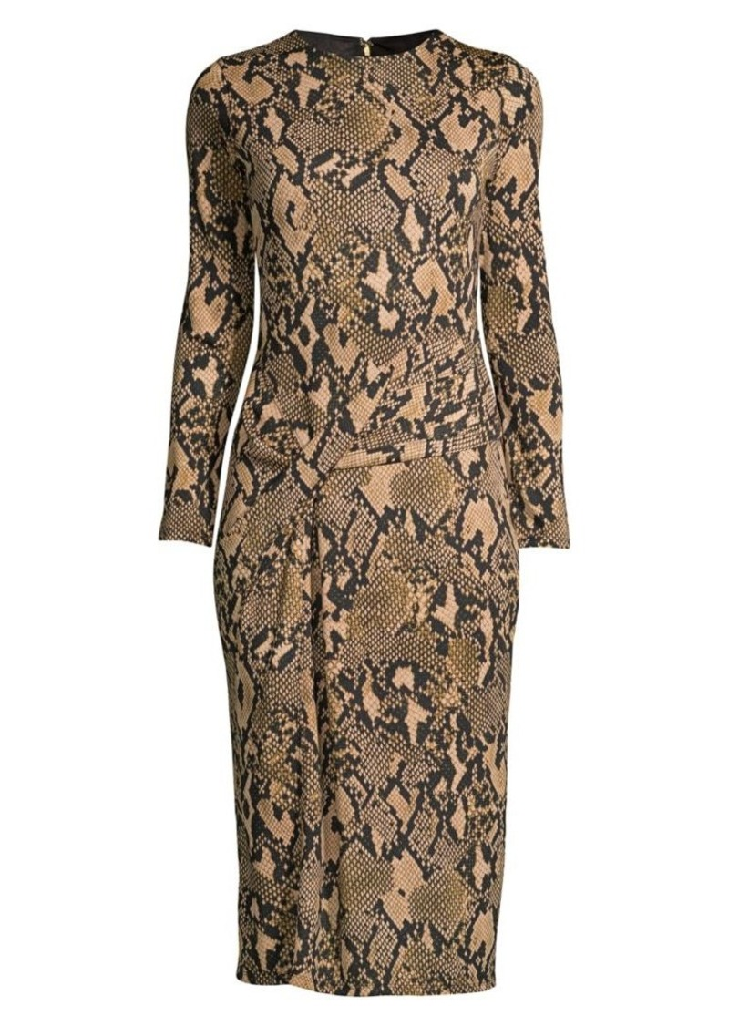 DKNY Python-Print Jersey Knit Dress