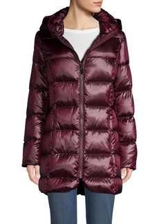 DKNY Quilted Hooded Down Jacket