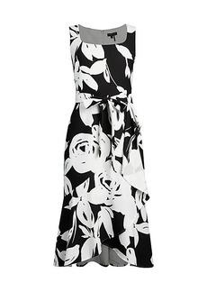 DKNY Reverse-Floral Print Dress