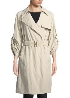 DKNY Roll-Sleeve Trench Jacket
