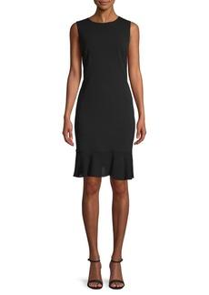 DKNY Ruffle Sheath Dress