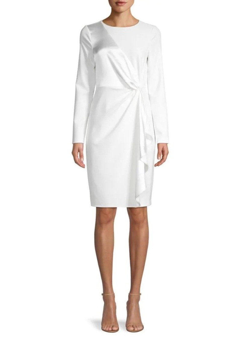 DKNY Ruffled Long-Sleeve Dress