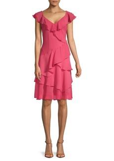 DKNY Ruffled Midi Dress