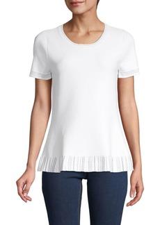 DKNY Ruffled Trim Short-Sleeve Top