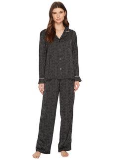DKNY Satin Long Sleeve PJ Set