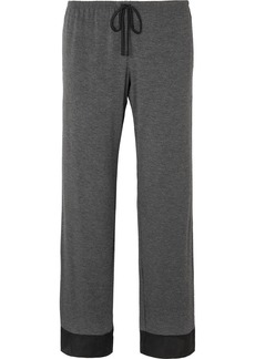 DKNY Satin-trimmed Stretch-jersey Pajama Pants