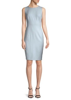 DKNY Seamed Sleeveless Sheath Dress