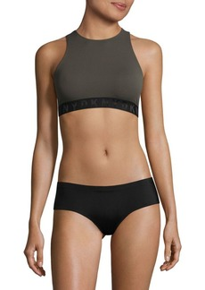DKNY Seamless Rib Cropped Top