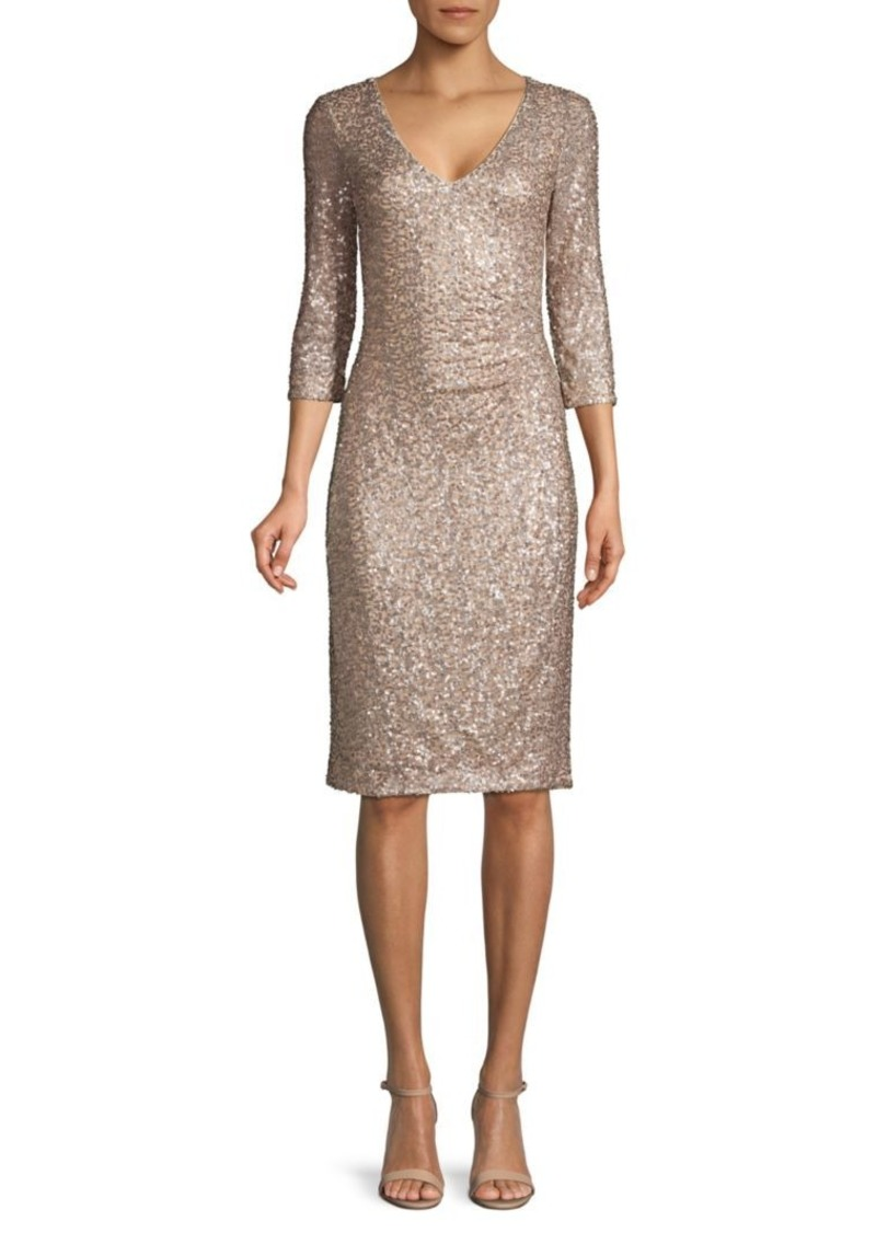 DKNY Sequin Sheath Dress