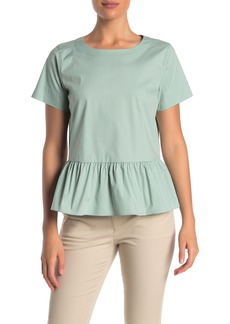 DKNY Shirred Peplum Hem Top