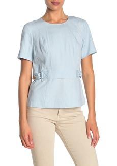 DKNY Short Sleeve Crew Neck Top