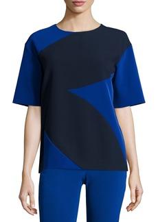 DKNY Short-Sleeve Overblown Flower Top