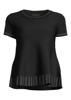 DKNY Short Sleeve Trapeze Sweater