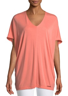 DKNY Short-Sleeve V-Neck Tunic Tee