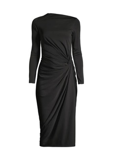 DKNY Side Ruched Jersey Dress