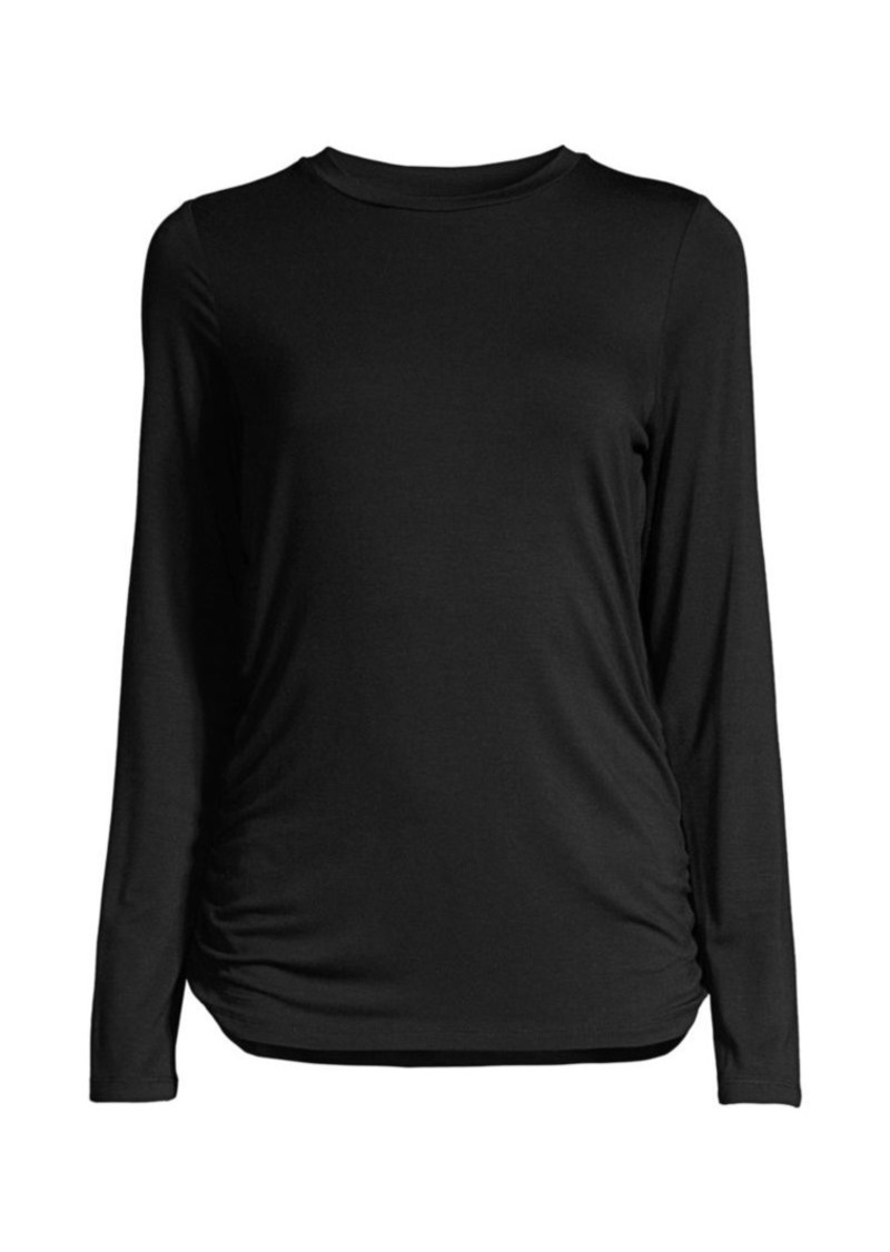 DKNY Side Ruched Jersey T-Shirt