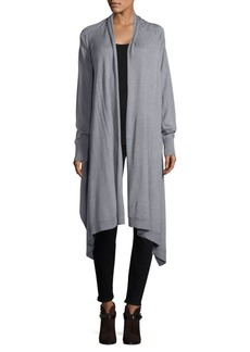 DKNY Heathered Open-Front Cardigan