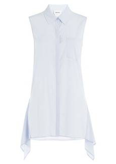 DKNY Silk Blouse with Asymmetric Hem