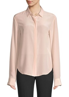 DKNY Silk Button Front Blouse