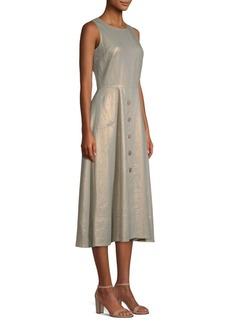 DKNY Sleeveless Buttoned Midi Dress
