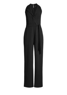 DKNY Sleeveless Collared Jumpsuit