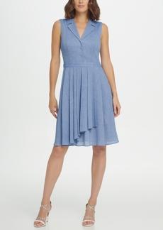DKNY Sleeveless Fit & Flare Shirtdress