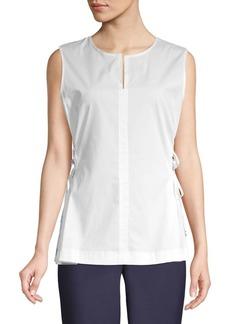 DKNY Sleeveless Lace Blouse