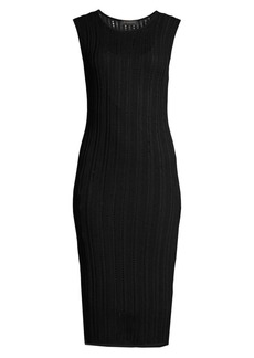DKNY Sleeveless Loose-Weave Knit Dress