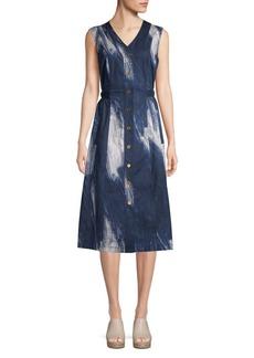 DKNY Sleeveless Printed Midi Dress