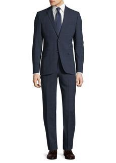 DKNY Slim-Fit Windowpane Wool Two-Piece Suit