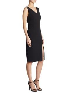 DKNY Slit V-Back Sheath Dress
