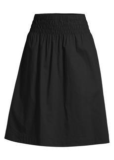 DKNY Smocked A-Line Midi Skirt