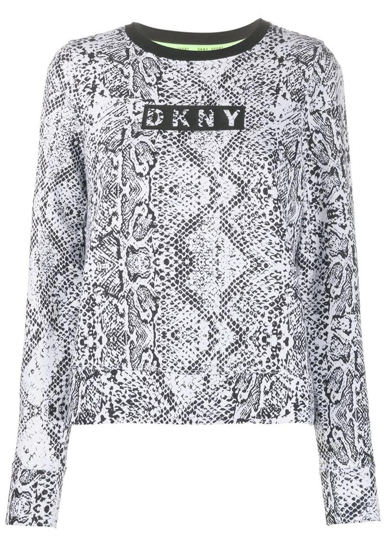 DKNY snakeskin-print logo sweatshirt