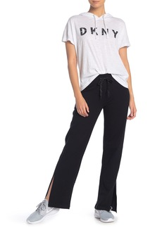 DKNY Solid Drawstring Track Pants