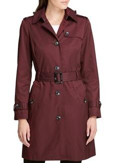 DKNY Solid Rain Trench Coat