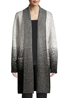 DKNY Speckle Print Open Front Cardigan