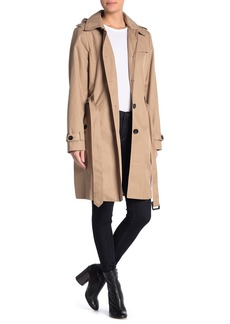 DKNY Spread Collar Trench Coat