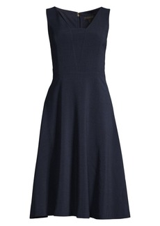DKNY Stretch-Crepe Fit-&-Flare Dress