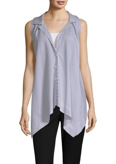 DKNY Stripe Sleeveless Trapeze Top