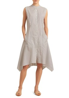 DKNY Striped A-Line Dress
