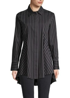 DKNY Striped Cotton-Blend Tunic