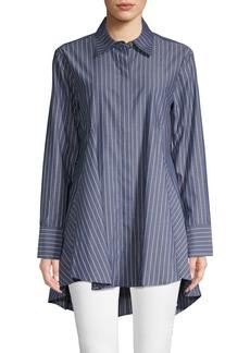 DKNY Striped Cotton Long-Sleeve Shirt