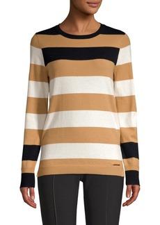 DKNY Striped Crewneck Sweater