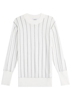 DKNY Striped Merino Wool Pullover