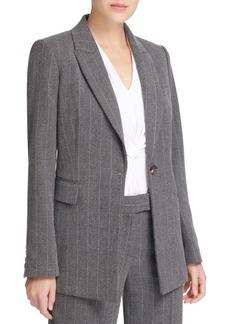 DKNY Striped Notch Lapel Jacket