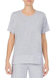 DKNY Striped Short-Sleeve Pajama Top