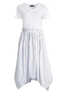 DKNY Short Sleeve A-Line Dress